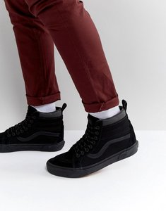 Read more about Vans sk8-hi mte leather trainers in black va33txopq - black