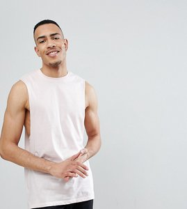 Read more about Asos tall vest with dropped armhole - floss