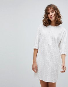 Read more about Vanessa bruno shift dress in broderie anglaise - blanc 001