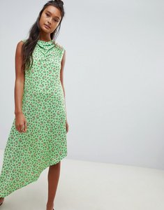 Read more about Asos design ditsy print midi dress with button detail - ditsy print