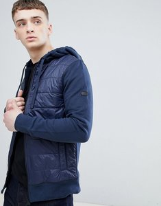 Read more about Barbour international baffle hooded sweat jacket in navy - navy