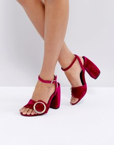 Read more about Asos hiccup heeled sandals - berry