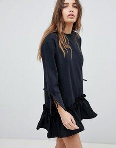 Read more about Stylenanda frill hem mini dress - black