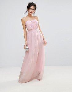 Read more about Club l bridesmaid chiffon detail knot maxi dress - pearl 121304 tpg