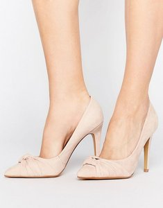 Read more about Head over heels by dune arria knot point court shoes - nude