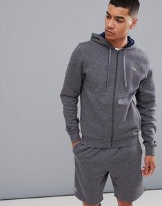 Read more about Lacoste sport fleece hooded sweat in grey - grey