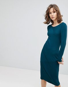 Read more about Selected bodycon midi dress - green