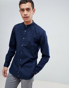 Read more about French connection plain grandad slim fit shirt - navy