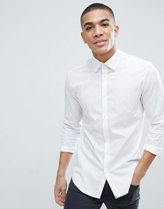 Read more about Esprit slim fit cotton poplin shirt in white - white