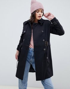 Read more about Asos design classic trench coat - black