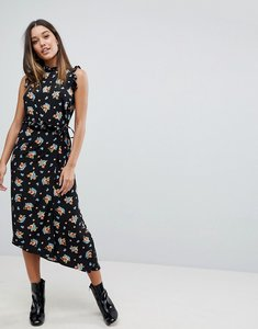 Read more about Asos maxi dress with cut out back in grunge floral - multi