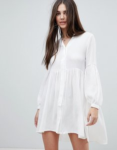 Read more about Glamorous smock dress - white textured