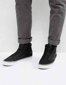 Read more about Vans sk8-hi reissue premium leather trainers - black