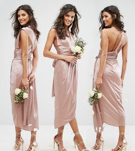 Read more about Tfnc wedding wrap pencil multiway midi dress - mink