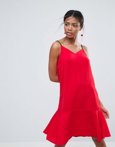 Read more about New look drop hem slip dress - bright red