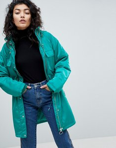 Read more about Asos parka with belt detail - green