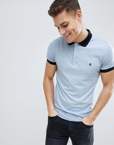Read more about French connection contrast collar polo shirt - blue