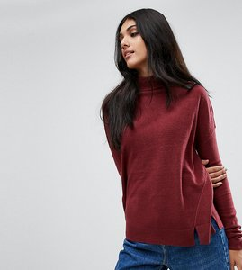Read more about Noisy may tall high neck jumper - zinfandel