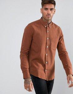 Read more about Just junkies linen mix shirt - brown