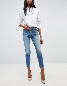 Read more about J brand alana high rise crop skinny jeans with raw hem - delphi blue