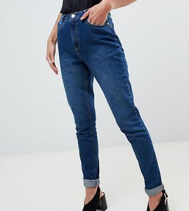 Read more about Missguided tall riot high rise mom jeans - blue