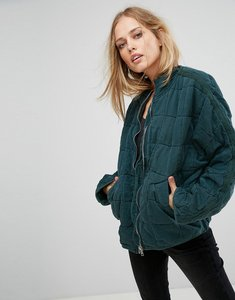 Read more about Free people dolam quilted jacket - army