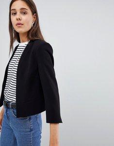 Read more about New look crop blazer - black