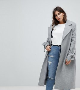 Read more about Helene berman plus tie sleeve wool blend duster coat - grey