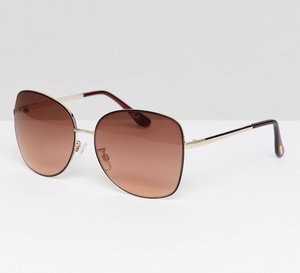 Read more about Mango oversized metal frame sunglasses - gold