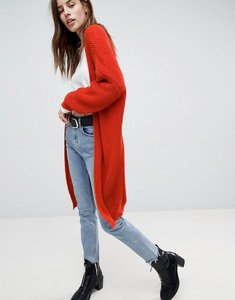 Read more about Asos long cardigan in oversized shape - rust