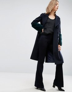 Read more about Asos coat with faux fur cuffs - multi