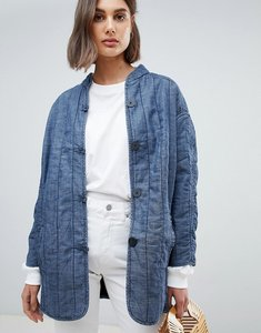 Read more about Waven lykke quilted denim jacket - bonsai blue