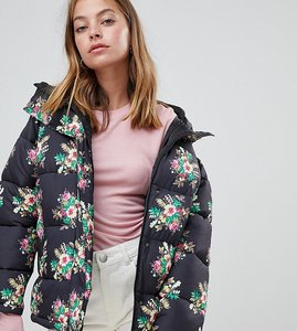 Read more about Asos design petite floral padded jacket - multi