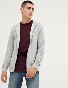 Read more about Farah kyle hooded zip through sweat in grey - grey