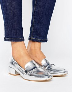 Read more about Raid haven silver loafers - silver