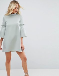 Read more about Asos embellished trim shift mini dress - duck egg