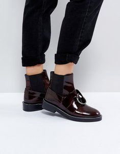 Read more about Asos adel leather ring ankle boots - oxblood