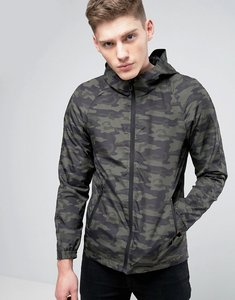 Read more about Only sons light weight hooded jacket in camo print - olive night