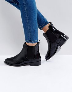 Read more about Dune london quentin brogue chelsea boot - black