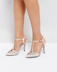 Read more about True decadence t-bar heeled shoes - champagne satin