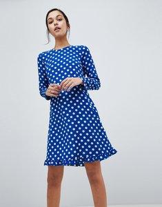 Read more about Y a s dotti polka dot dress - navy polka dot