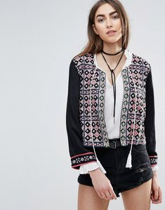Read more about Raga morocan dreams jacket with embellished detail - black
