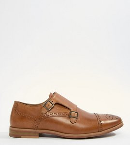 0e57e9a4d1728c Read more about Asos design monk shoes in tan leather with contrast sole -  tan