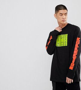 Read more about Puma graphic long sleeve t-shirt with arm print in black exclusive to asos - black
