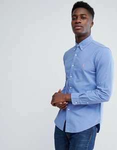 Read more about Polo ralph lauren slim fit garment dyed shirt polo player in blue - blue