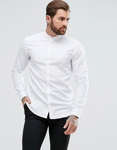 Read more about Boss easy 1 regular fit grandad collar oxford shirt in white - white 100