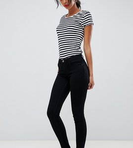 Read more about Only tall skinny leg push up effect jean in black