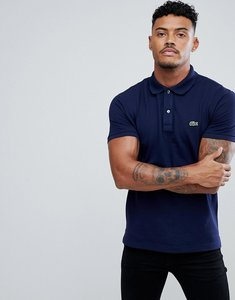 Read more about Lacoste slim fit pique polo in navy - 166