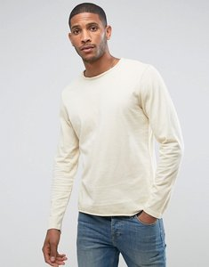 Read more about Another influence basic raw edge long sleeve top - stone