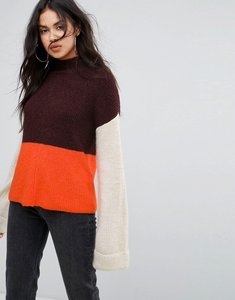 Read more about Missguided colour block jumper - multi